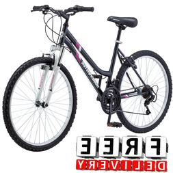 "Women Mountain Bike 26"" Roadmaster Road 18 Speed Black Touri"