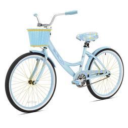 Womens Mountain Bike Blue Bicycle Comfort Road Girls 24 Inch