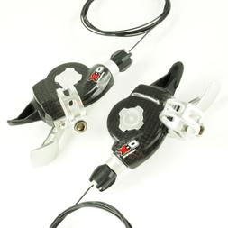 SRAM X0 Trigger Shifters Pair 3x9 Speed MTB NOS Carbon Set X