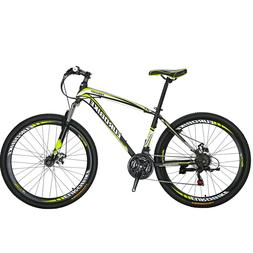 "X1 27.5"" mountain Bike Shimano 21 Speed Mens Bicycle Front S"