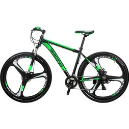 X9 Mountain Bike 21 Speed Lightweight Aluminum Mens Bikes 29