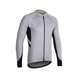 ARSUXEO Men's Full Zipper Long Sleeves Cycling Jersey Bicycl